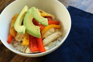 vegetarian rice bowls