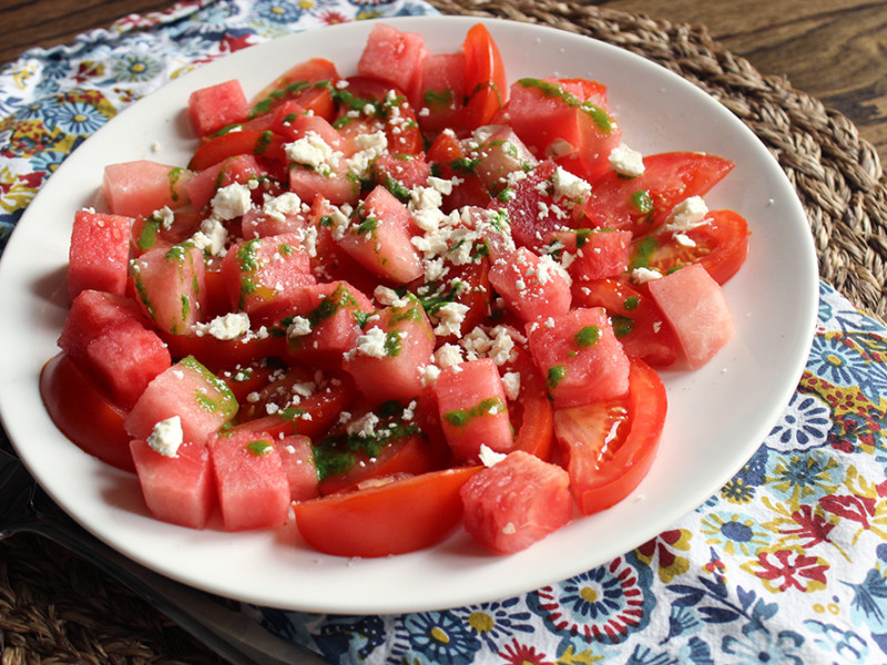 Tomato and Watermelon Salad - Missalaneyus
