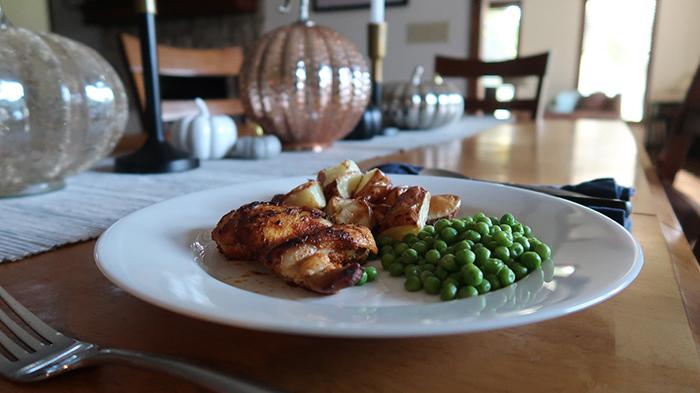 15 minute main dish chicken thighs