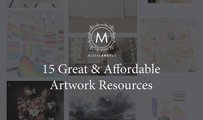 affordable artwork resources